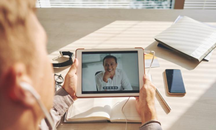 videochiamata con tablet